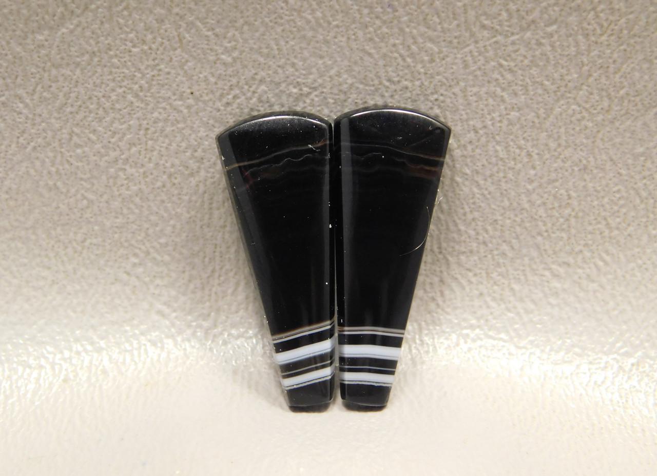 Tuxedo Agate Designer Cabochons Jewelry Stones Pairs #14