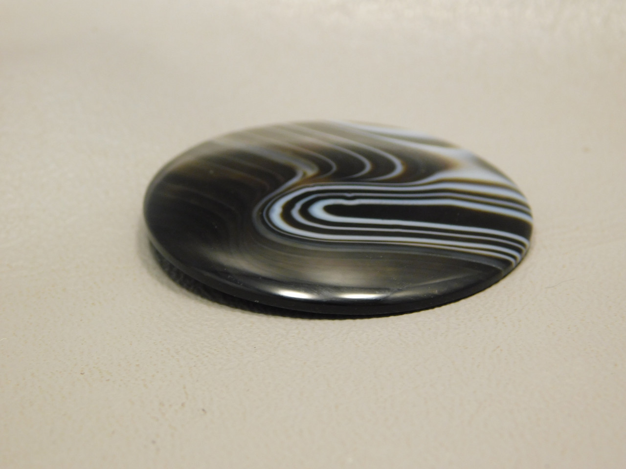 Dyed Tuxedo Agate Custom Cut Designer Cabochon Gemstone #4