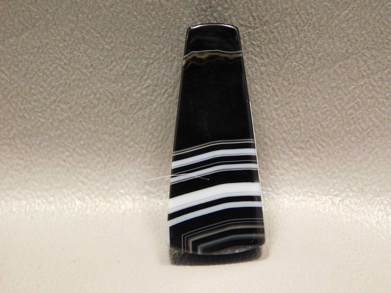 Tuxedo Agate Stone Bead Pendant #1