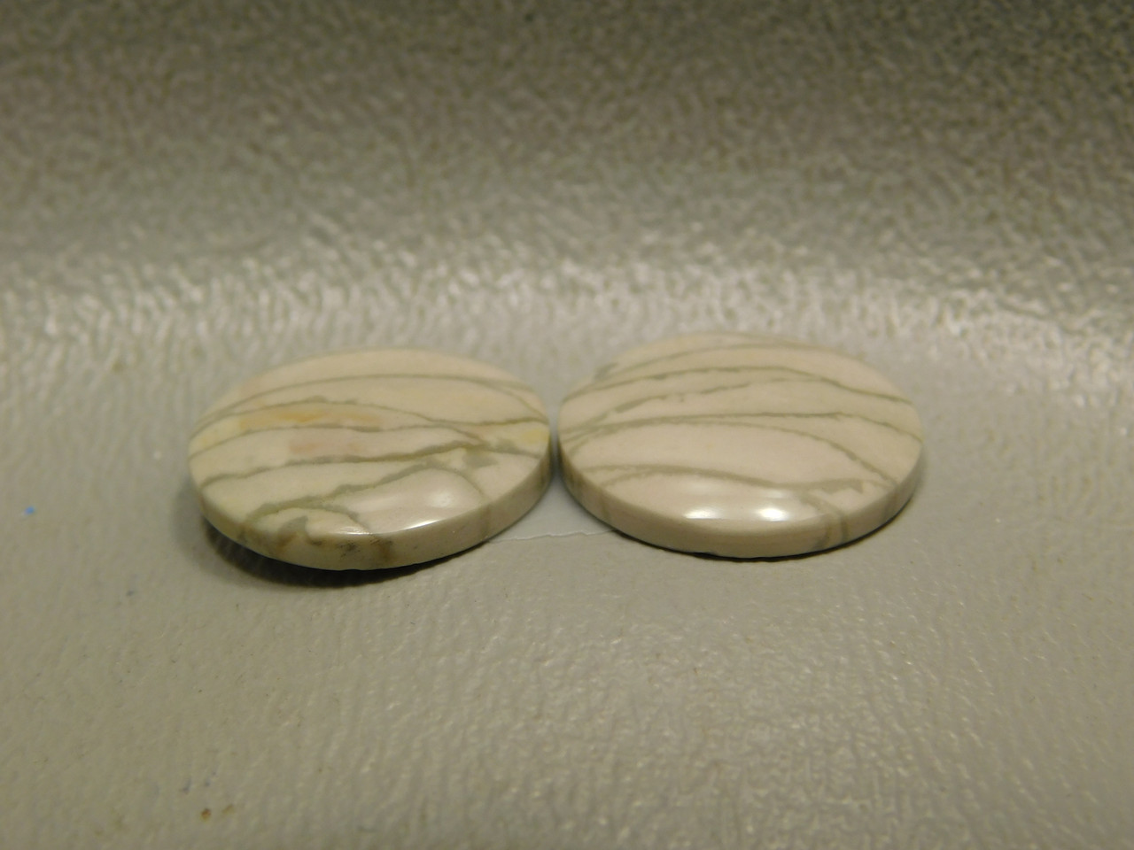 Willow Creek Jasper Matched Pair Cabochon Stone 13 mm Round #7