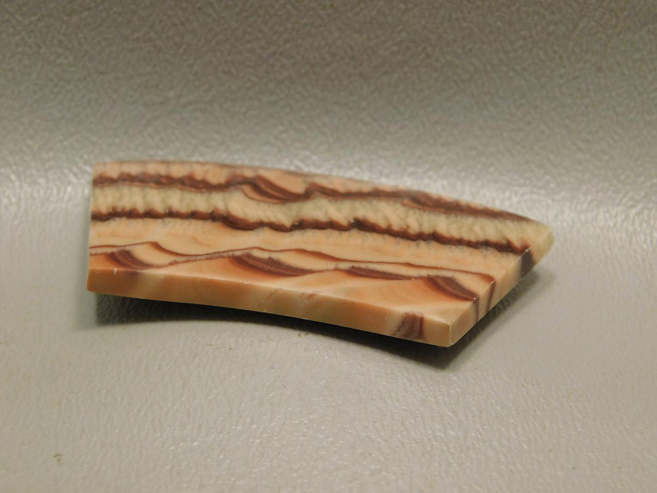 Wave Dolomite Stone Cabochon Designer Freeform Curved Bar #14