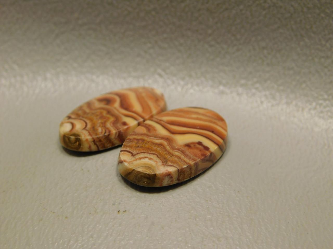 Wavy Dolomite Cabochons Matched Pairs Semi Precious Gemstones #9