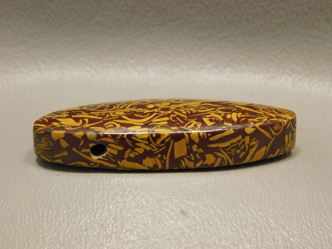 Coquina Jasper (Script Stone) Bead Pendant #3