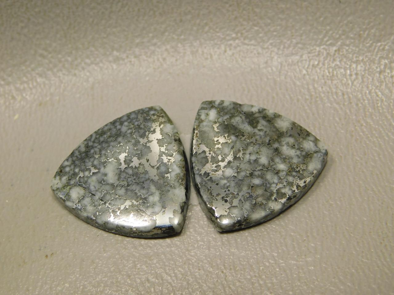 Mohawkite Cabochon 20 mm Trillions Earring Gemstone #12