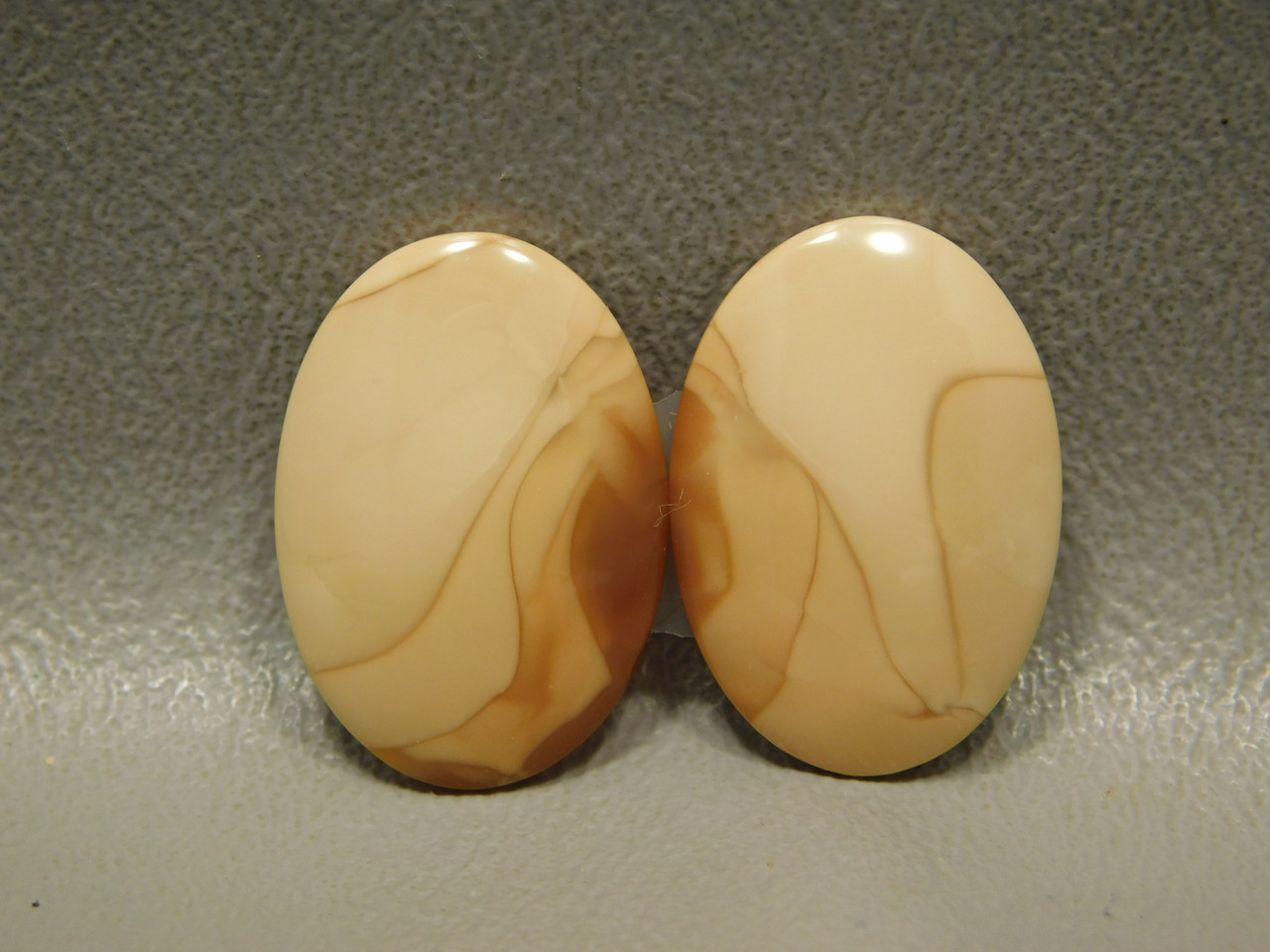 Bruneau Jasper Cabochons Matched Pair for Earrings Designer #2