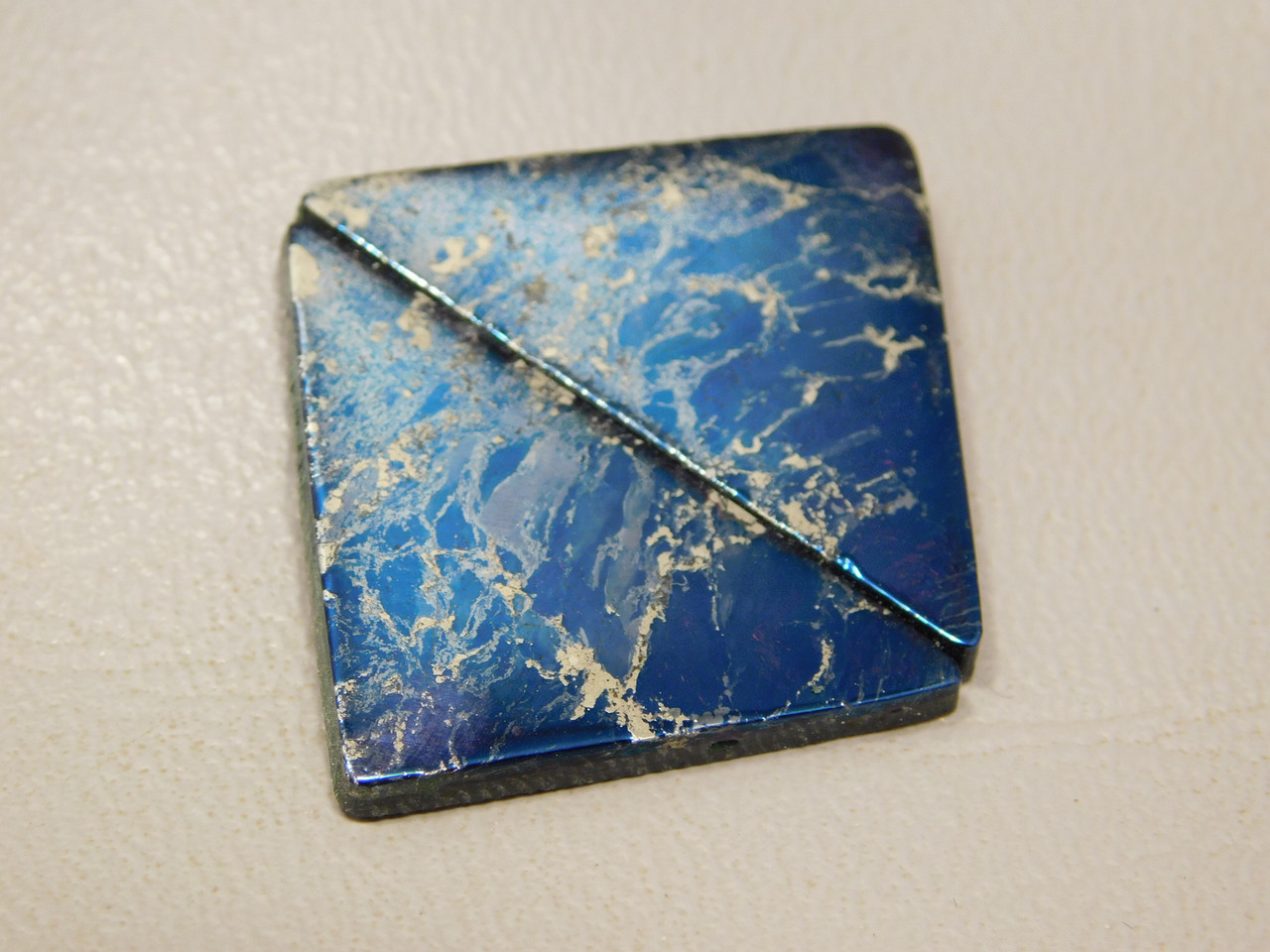 Covellite Matched Pair Cabochons (flat) #17