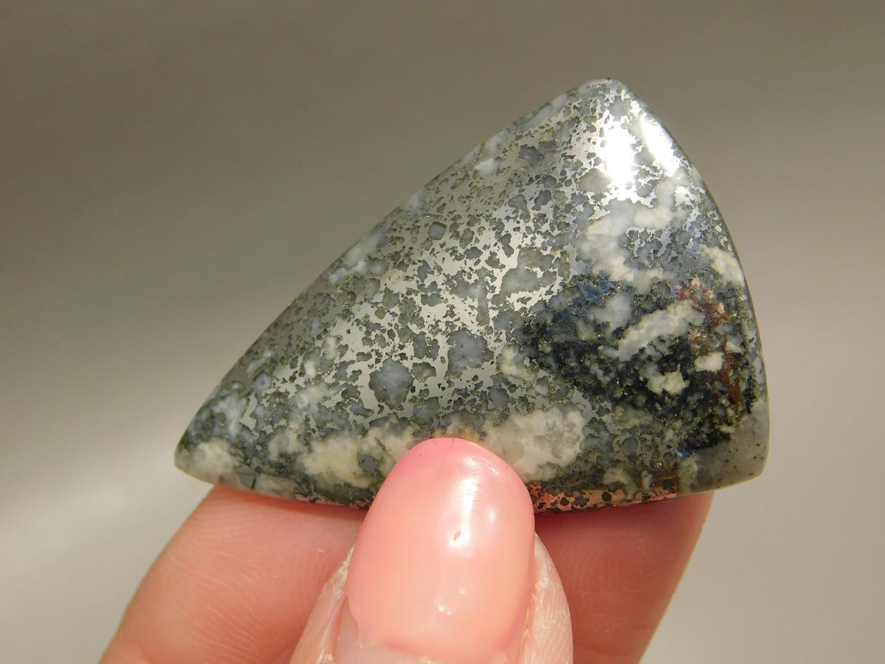 Mohawkite Stone Cabochon Triangle Semi Precious Gemstone  #5