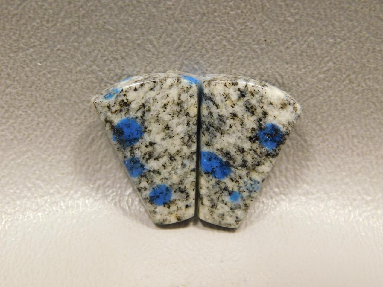 Cabochons K2 Azurite Jasper Matched Pair Gemstone 5