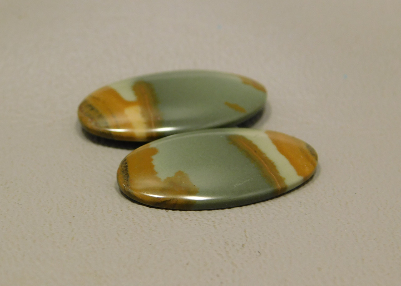 Owyhee Jasper Stones Matched Pair Cabochons #3