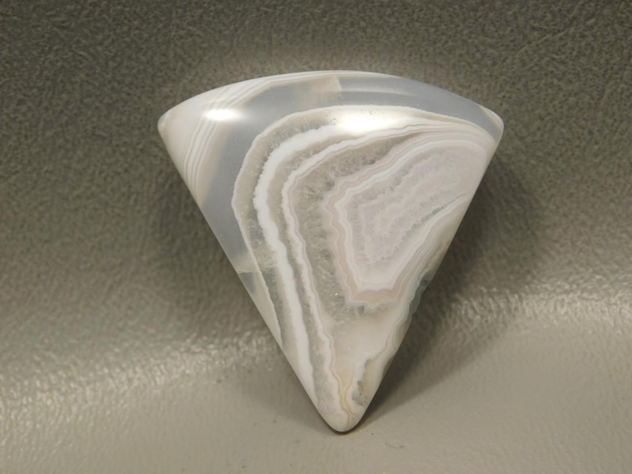 White Banded Botswana Agate Designer Cabochon Stone #5