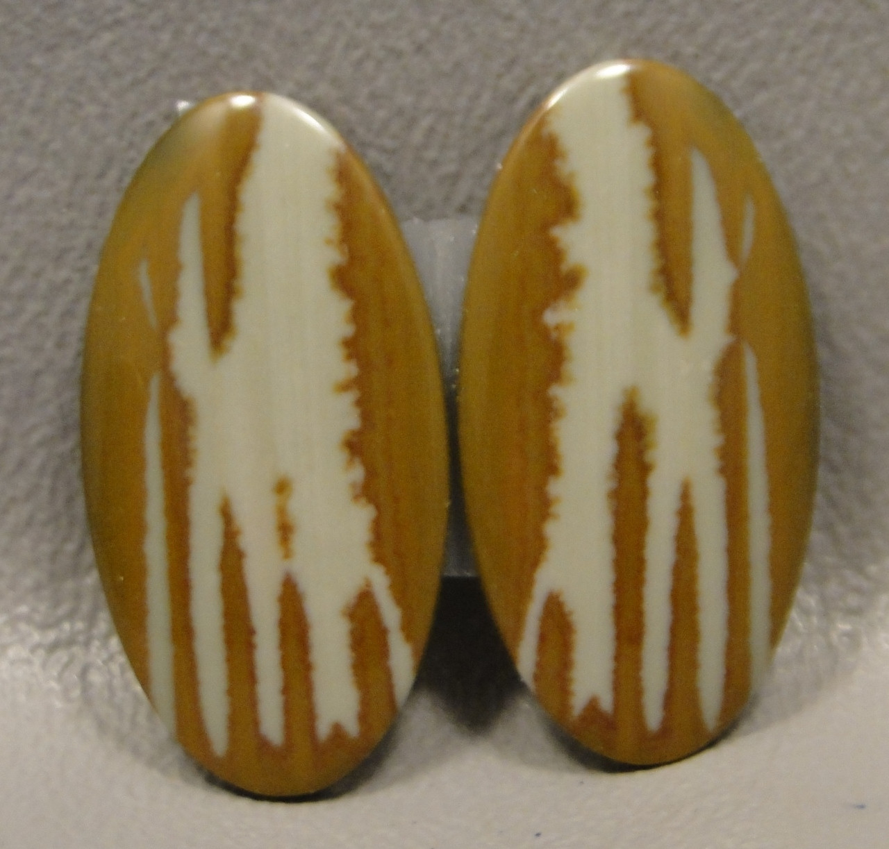 Owyhee Picture Jasper Matched Pair Cabochons #7