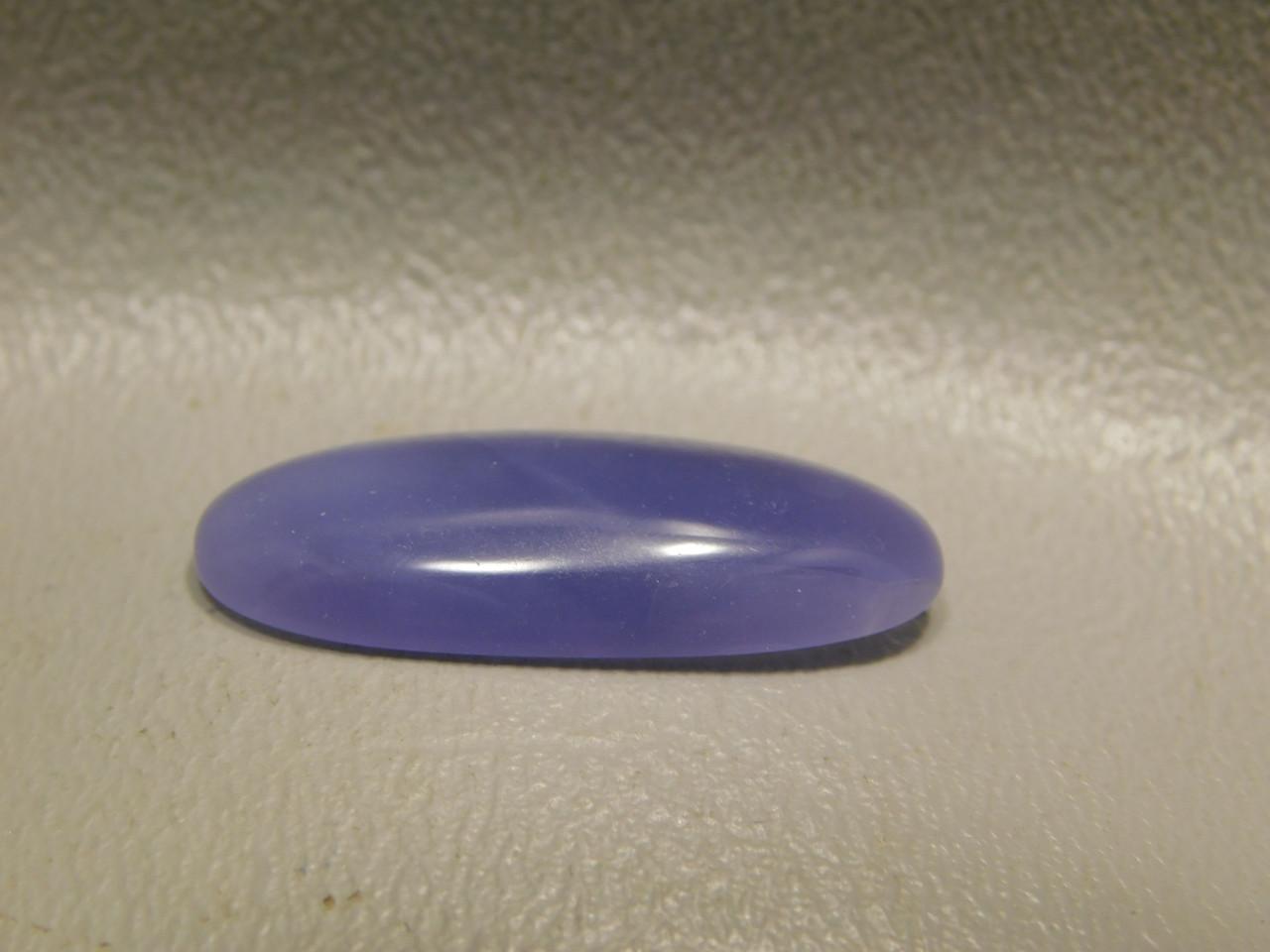 Lavender Fluorite Cabochon Thin Oval Semi Precious Gemstone #4