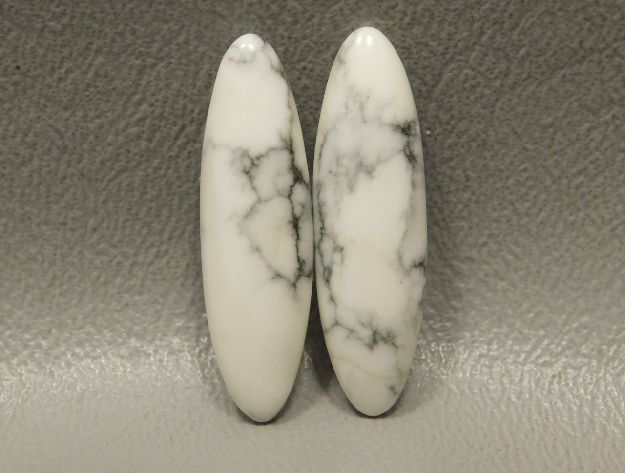 Cabochons Howlite Matched Pair Stones Long Ovals #8