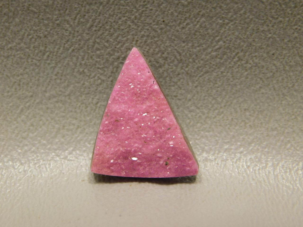 Cobaltian Calcite Pink Drusy Crystal Designer Cabochon #15