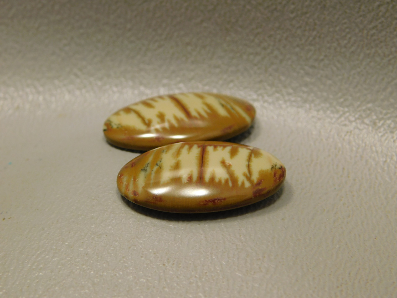 Owyhee Picture Jasper Loose Stones Matched Pair Cabochons #12