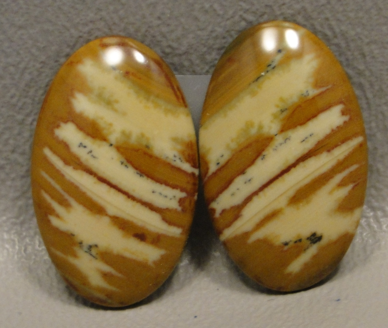 Owyhee Picture Jasper Matched Pair Cabochons #14