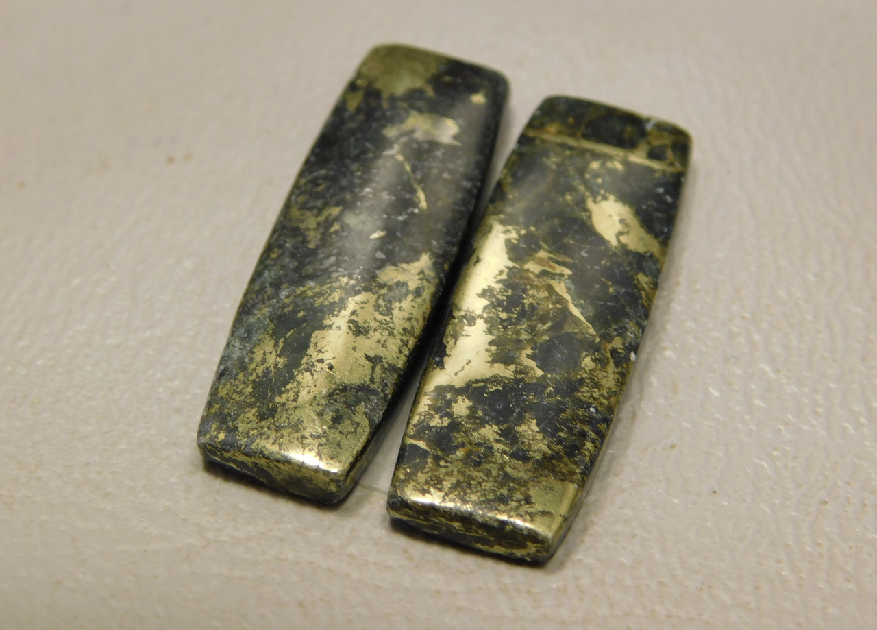 Apache Gold Matched Pair Cabochons Designer Gemstone #13