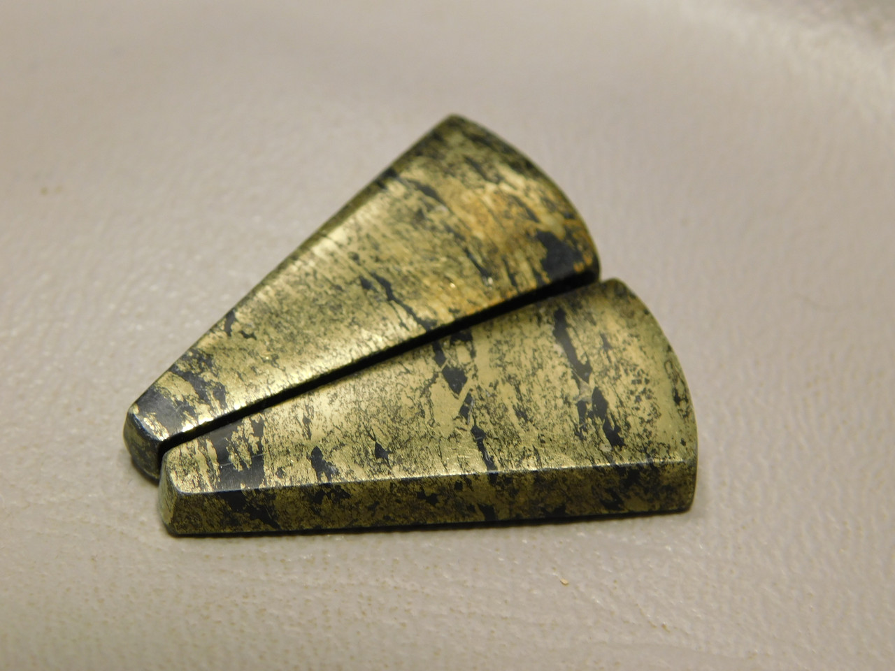 Apache Gold Matched Pair Cabochons #15