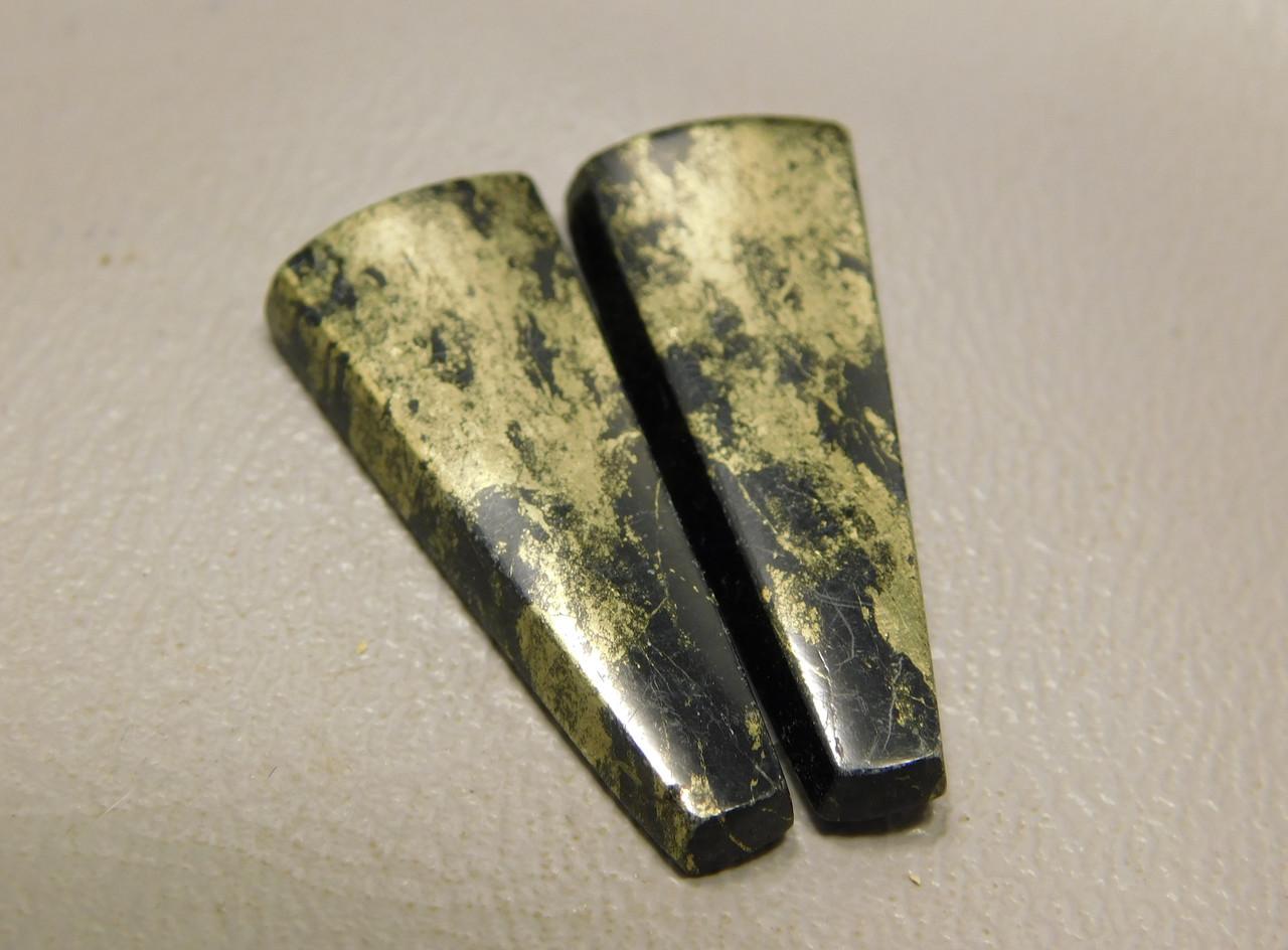 Apache Gold Matched Pair Cabochons Designer Gemstone #16