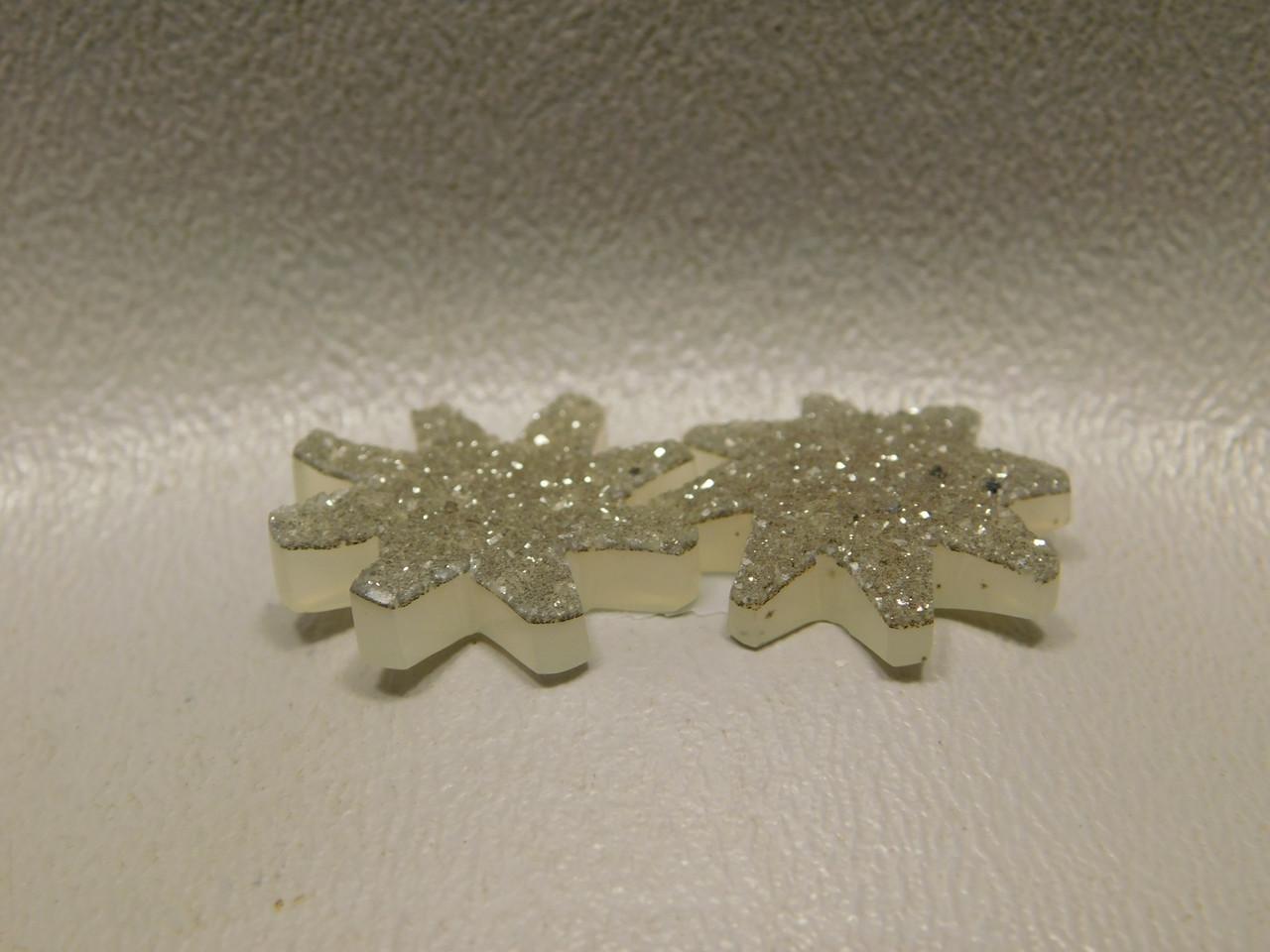 Druse Agate Drusy Crystal Designer Cabochon Star Shaped #5