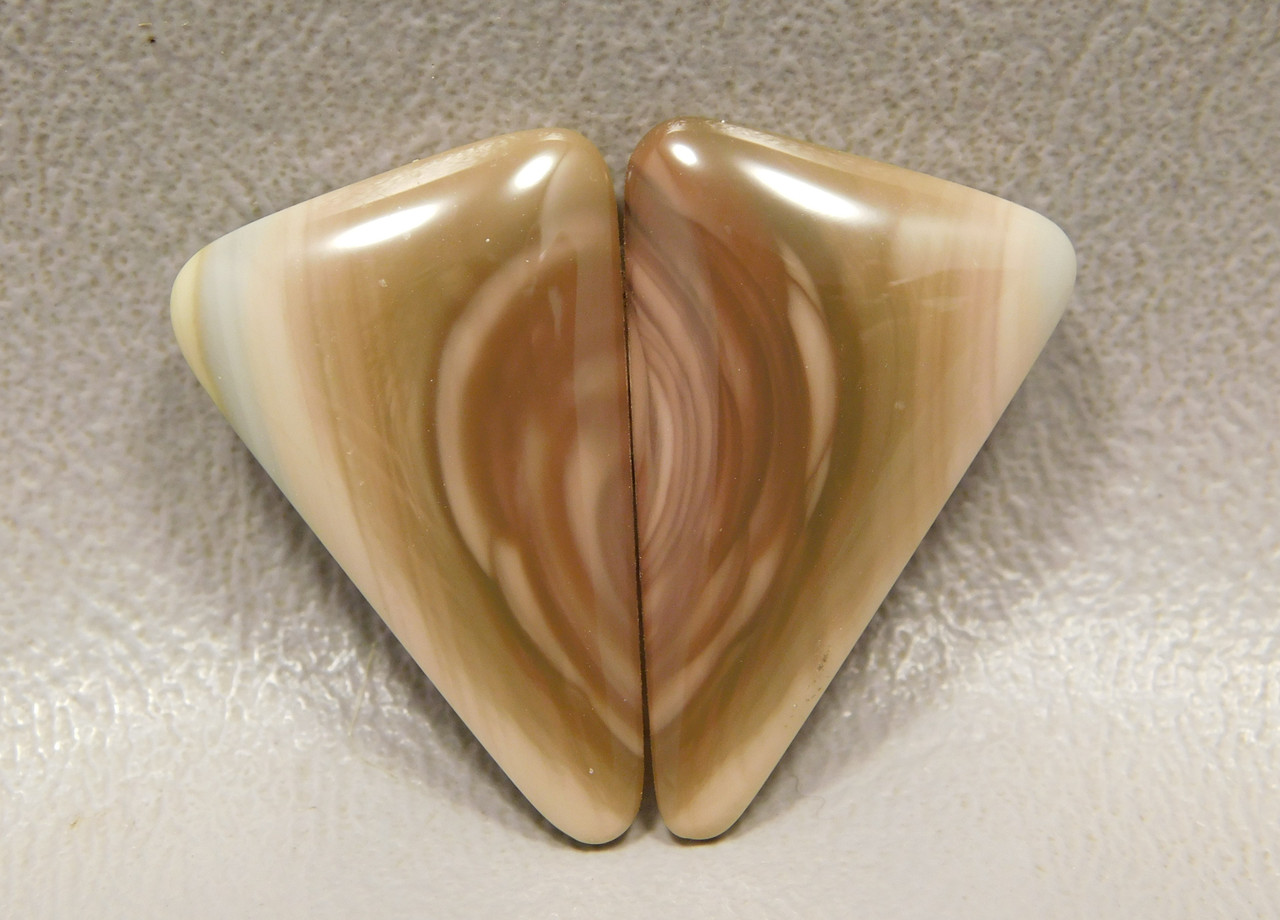 Royal Imperial Jasper Matched Pair Triangle Shaped Cabochon Stones #17