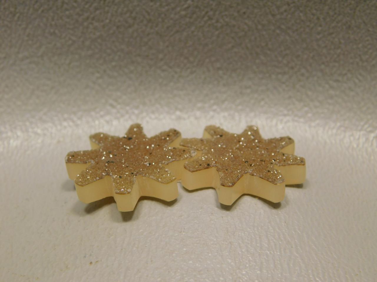 Brazilian Agate Drusy Druse Crystal Custom Cut Star Cabochons #6