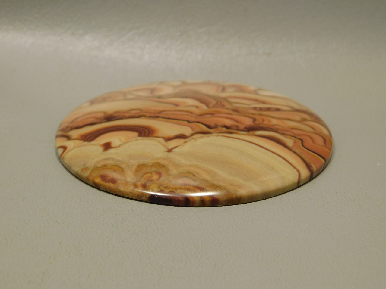 Wave Dolomite Cabochon Collector 70 mm Round Large Stone XL4