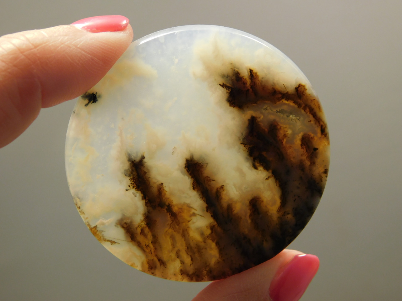 Graveyard Point Plume Agate Cabochon Stone for Jewelry #7