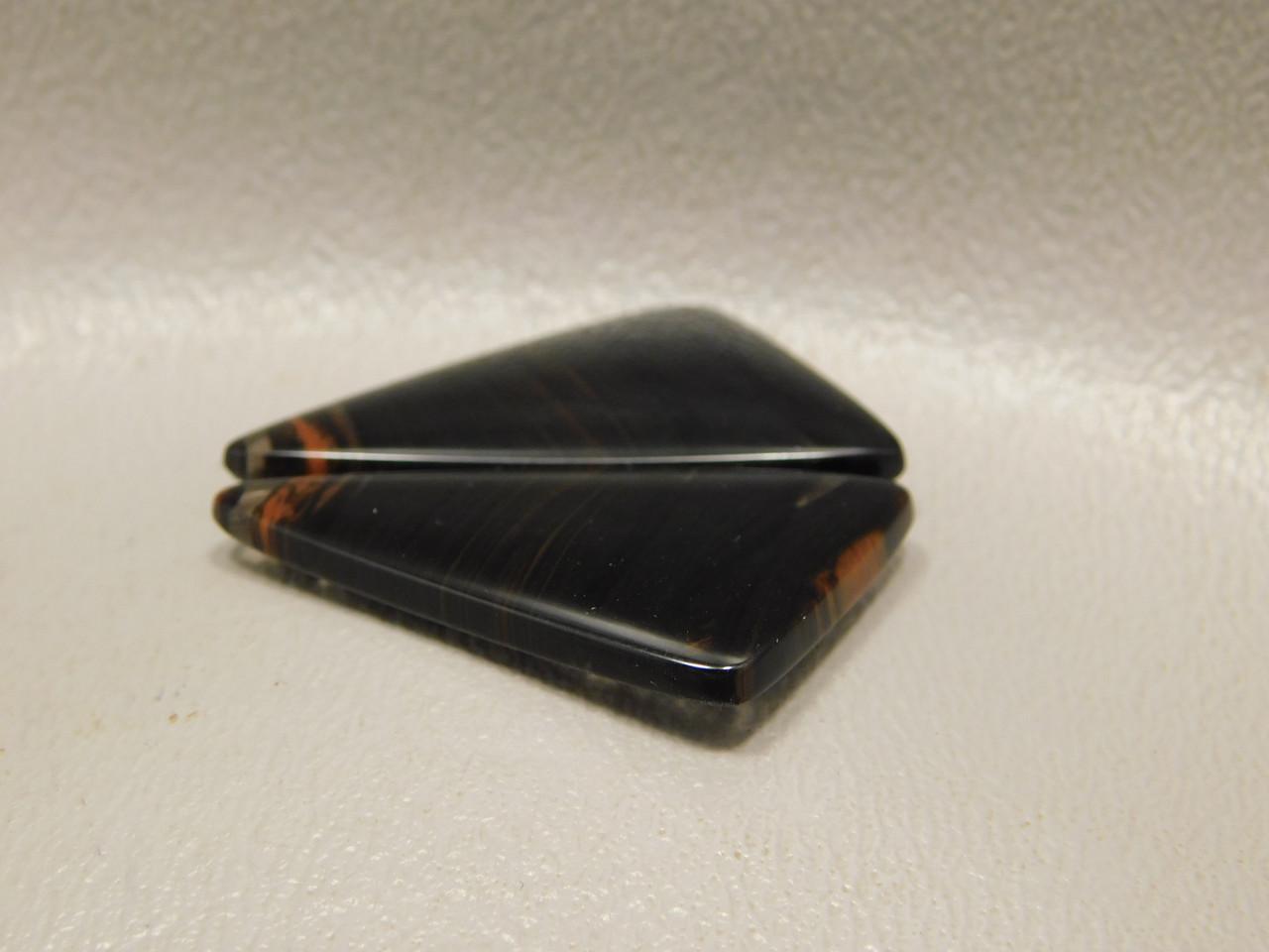 Mahogany Obsidian Matched Pairs Cabochons Designer Black Glass #10