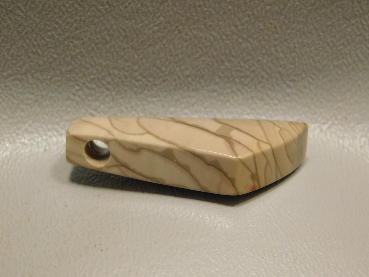 Willow Creek Jasper Drilled Stone Bead Pendant #4