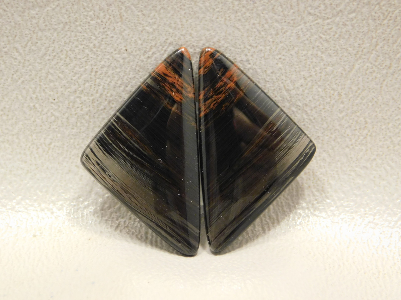 Mahogany Obsidian Matched Pairs Cabochons for Earrings #14