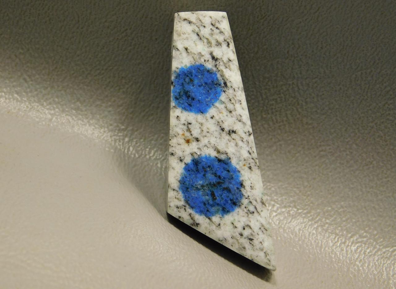 K2 Azurite Granite Stone Bead Pendant #4