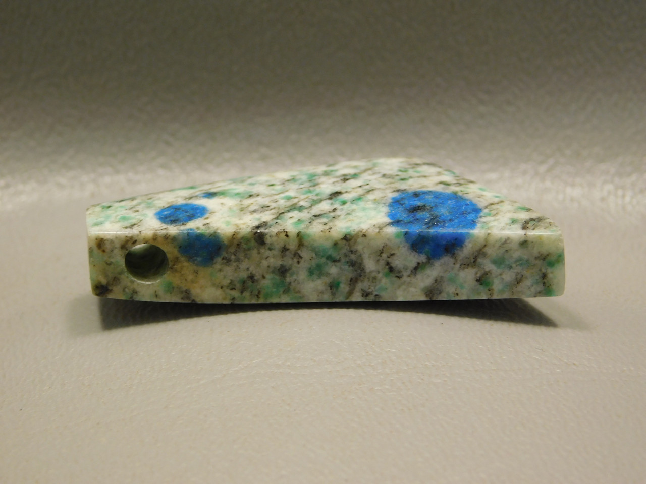 K2 Azurite Granite Stone Bead Pendant #7