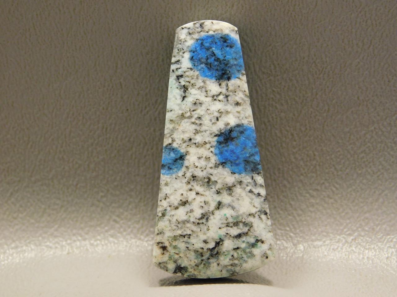 K2 Azurite Granite Stone Bead Pendant #8