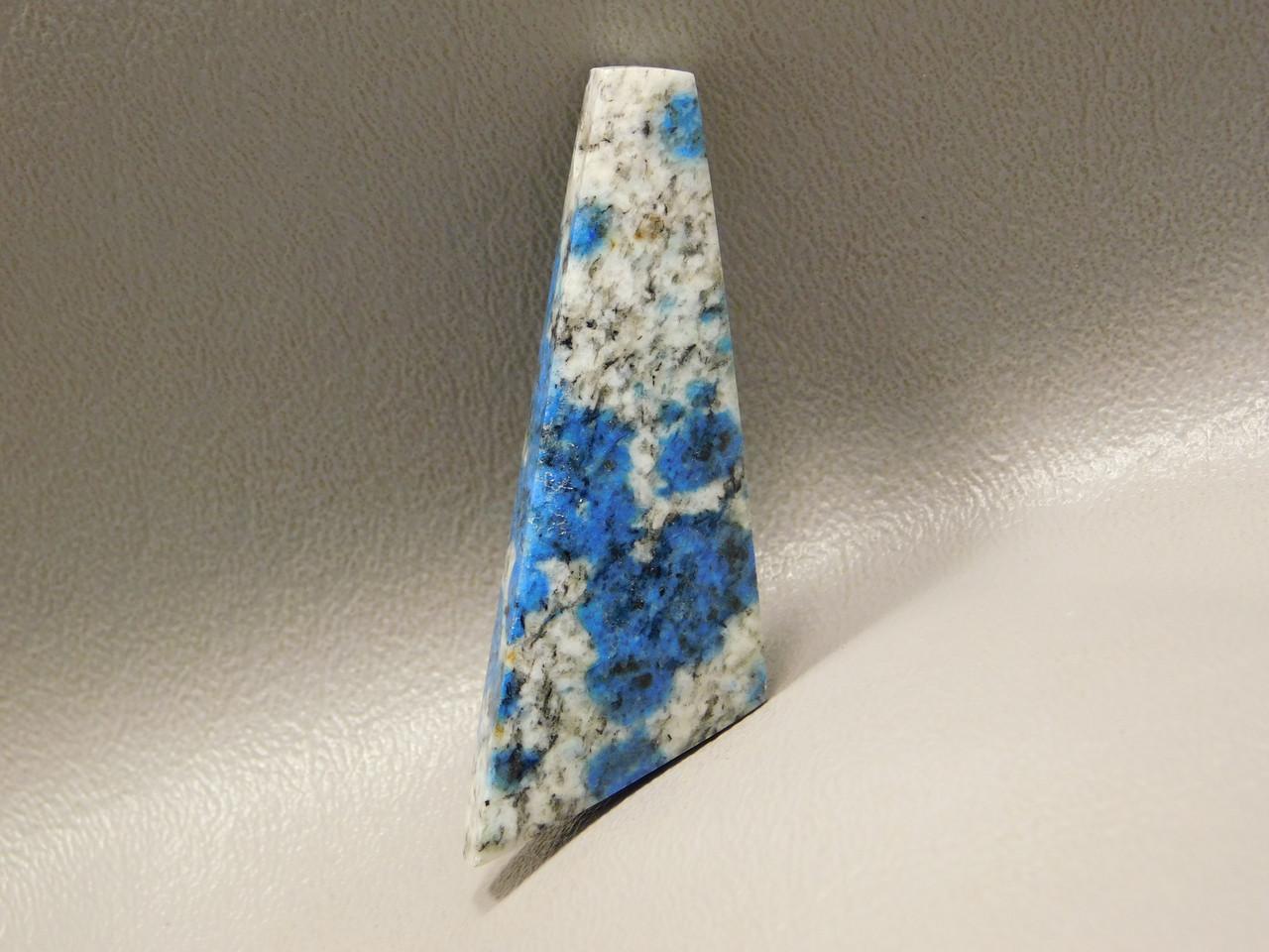 K2 Azurite Granite Stone Bead Pendant #9