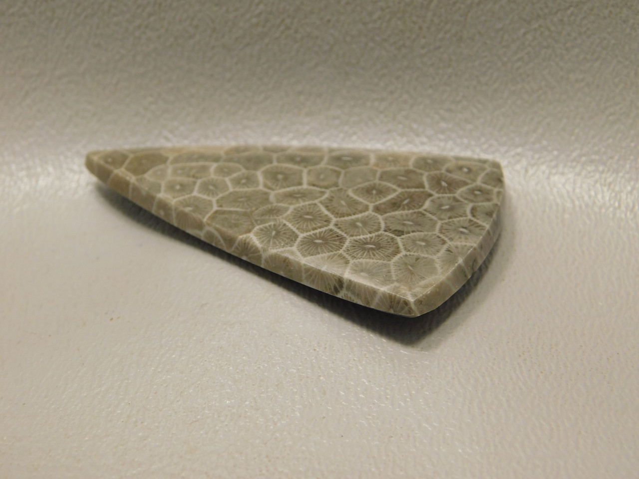 Flower Jasper Semiprecious Stone Triangle Cabochon #F12
