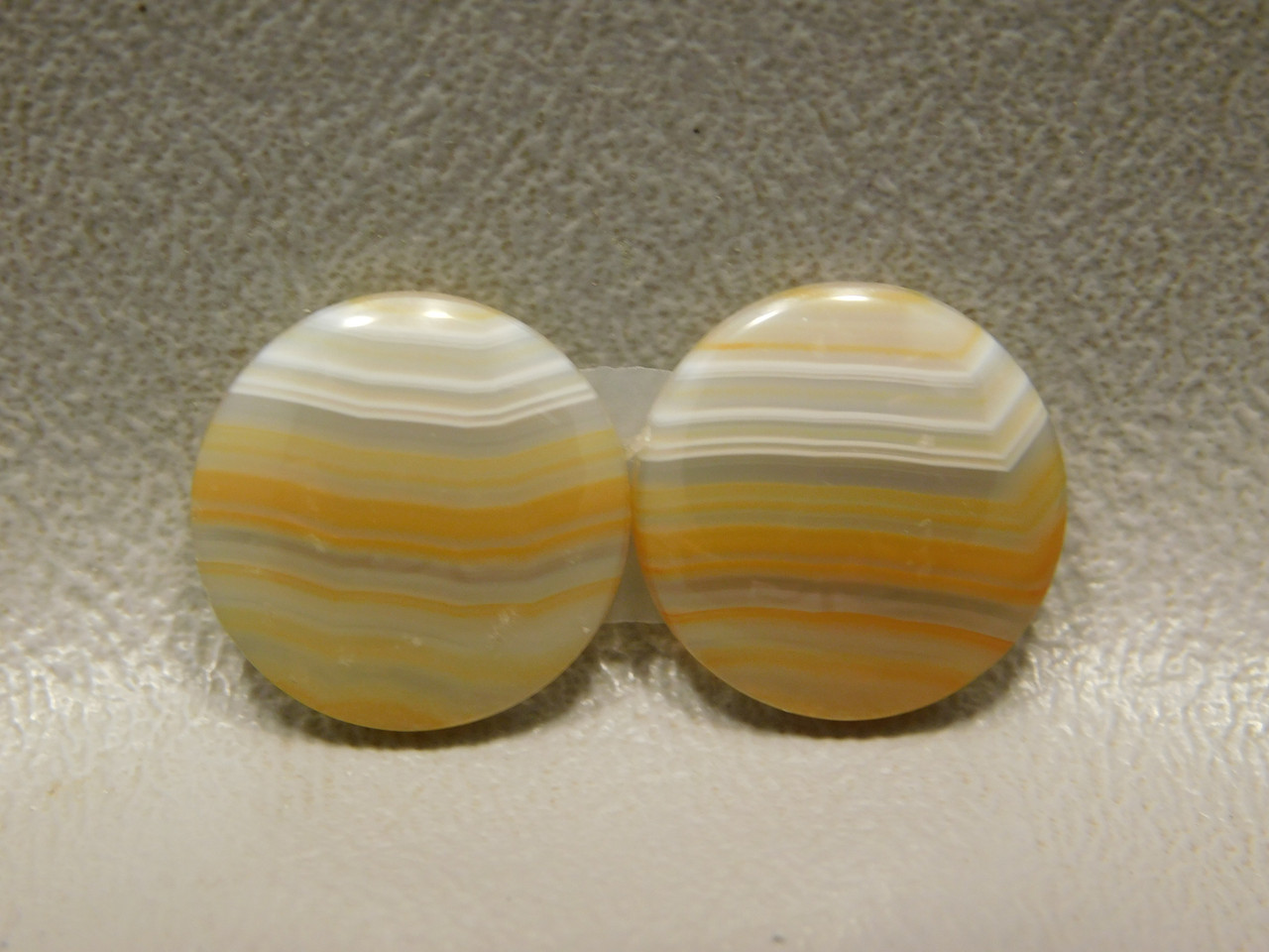 Brazilian Piranha Agate Matched Pair Cabochons Rounds 15 mm #8