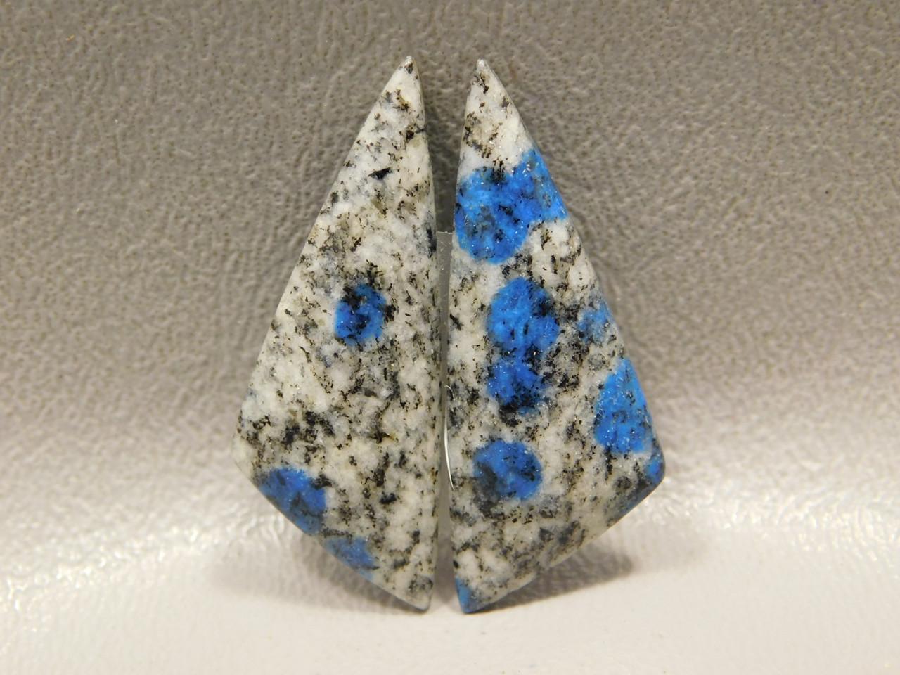 K2 Azurite Granite Matched Pair Cabochons #10