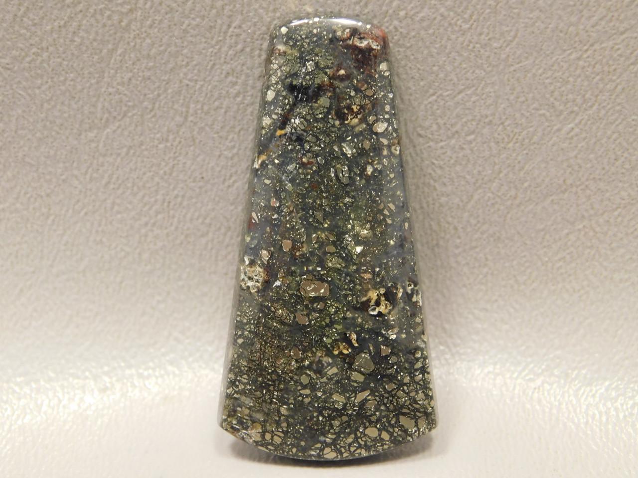 Pyrite Agate Semi Precious Gemstone Rare Designer Cabochon #7