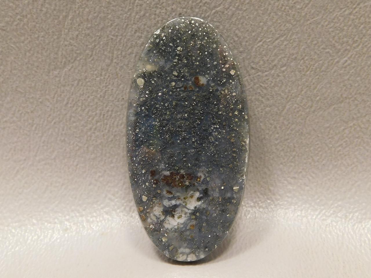 Pyrite Agate Cabochon Rare Lapidary Stone for Jewelry Design #11
