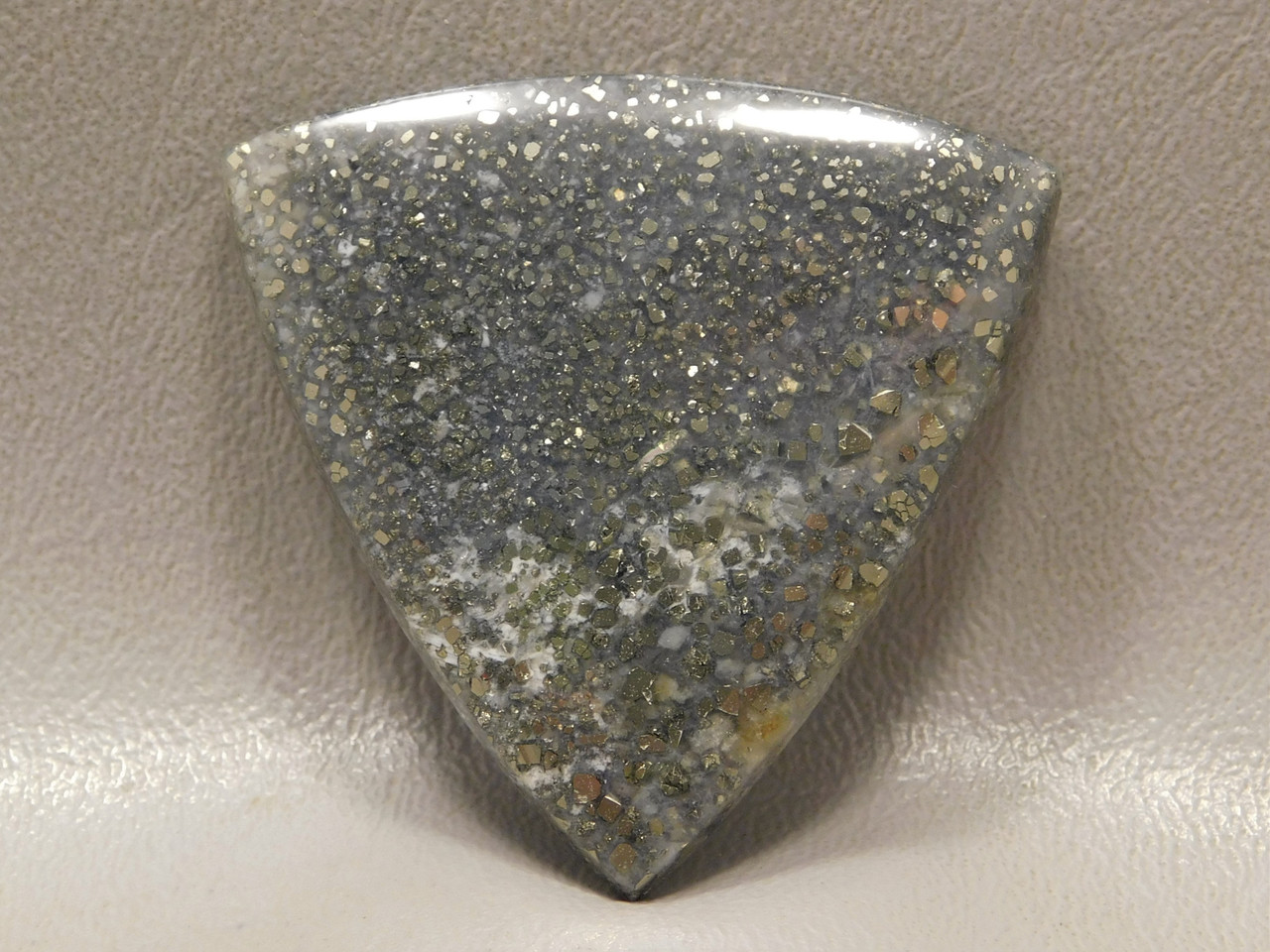 Pyrite Agate Semi Precious Gemstone Triangle Cabochon #10