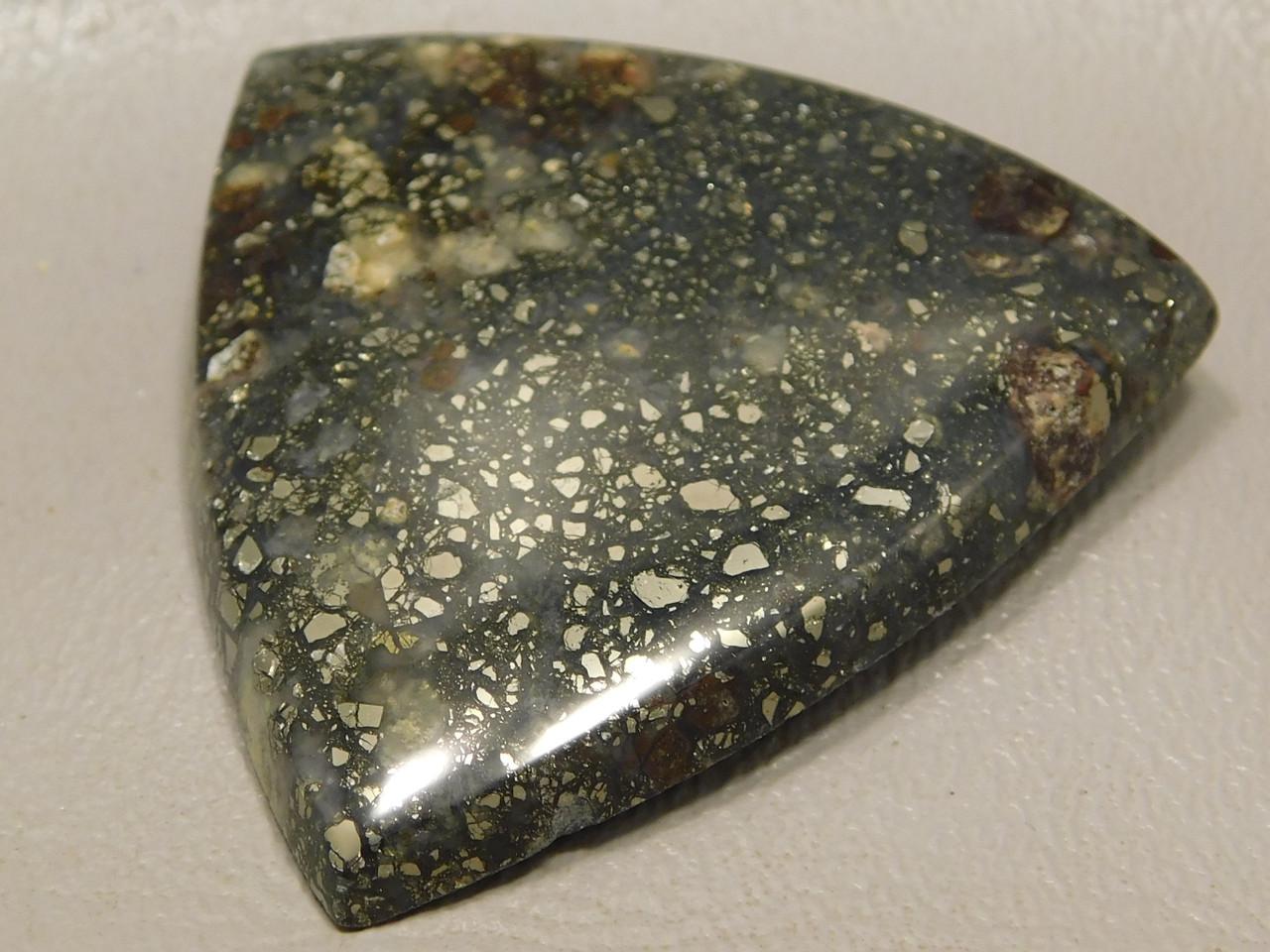 Pyrite Agate Inclusion Semi Precious Stone Cabochon #12