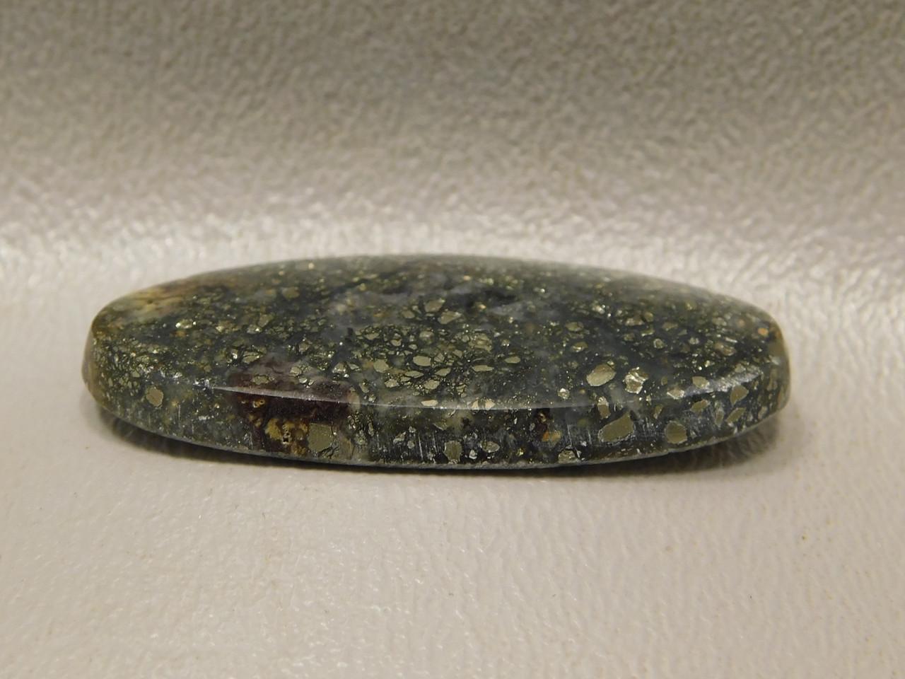 Pyrite Agate Mexico  Semi Precious Stone Cabochon #18