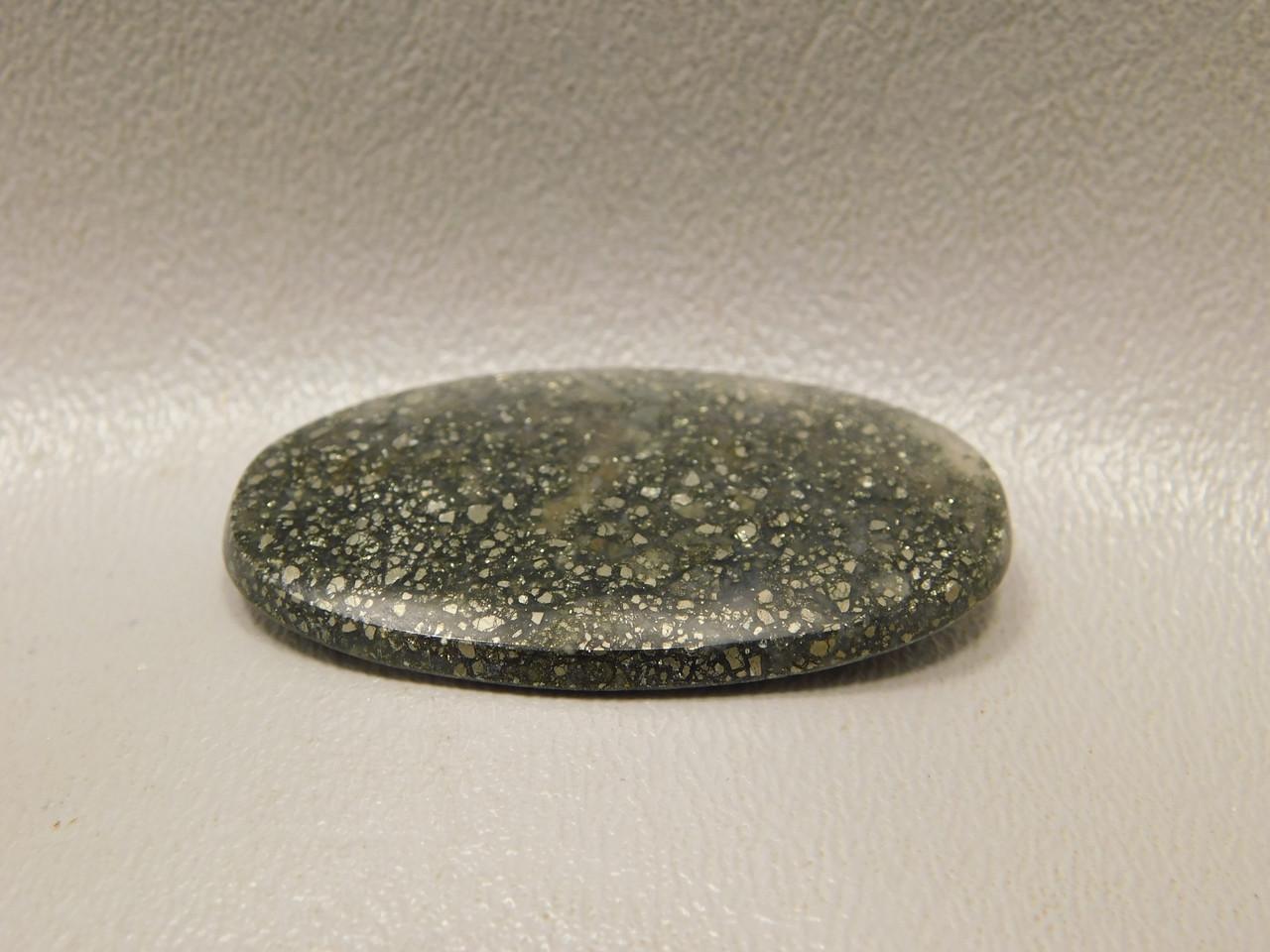 Agate with Gold Pyrite Inclusions Semi Precious Stone Cabochon #21