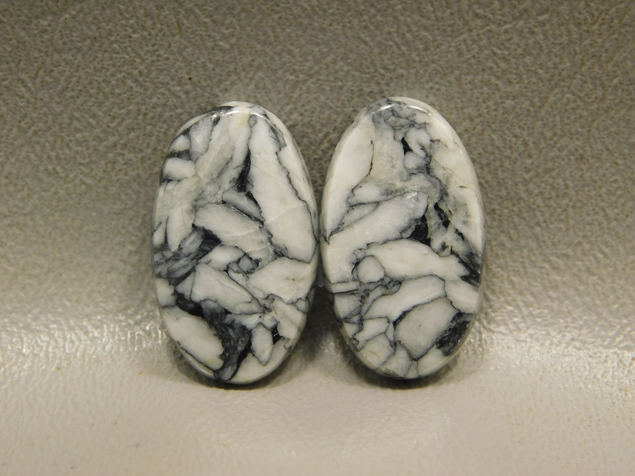 Pinolith or Pinolite Small Oval Matched Pair Stone Cabochons #3