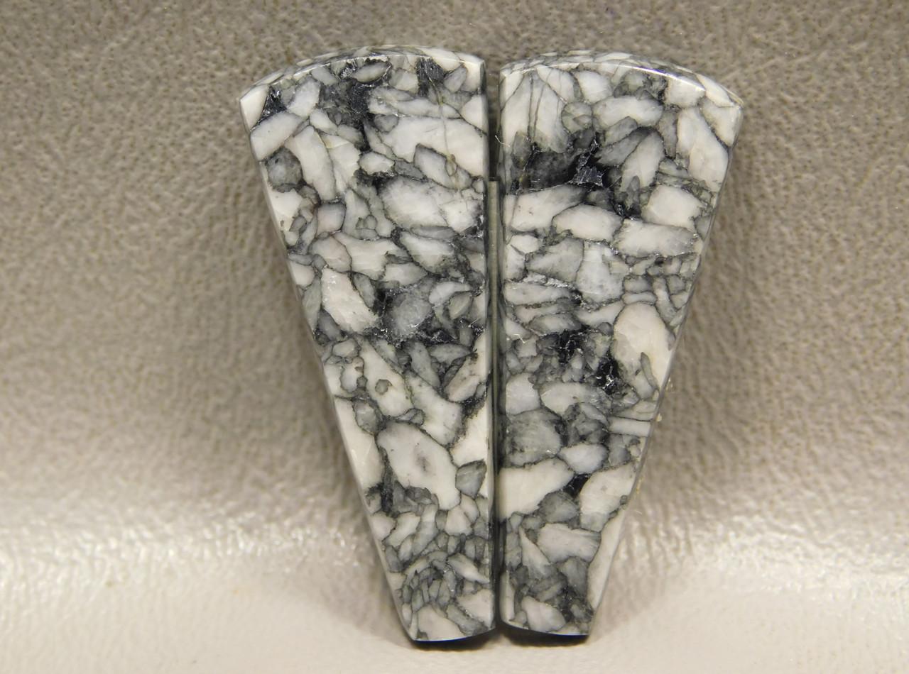 Pinolith or Pinolite Semiprecious Stone Matched Pair Stone Cabochons #4
