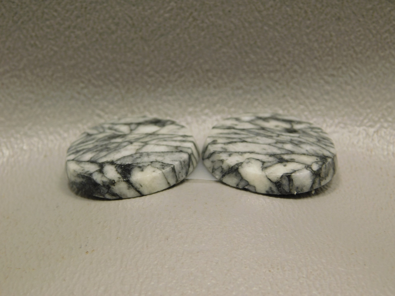 Pinolith or Pinolite Rounds Matched Pairs Stone Cabochons #10