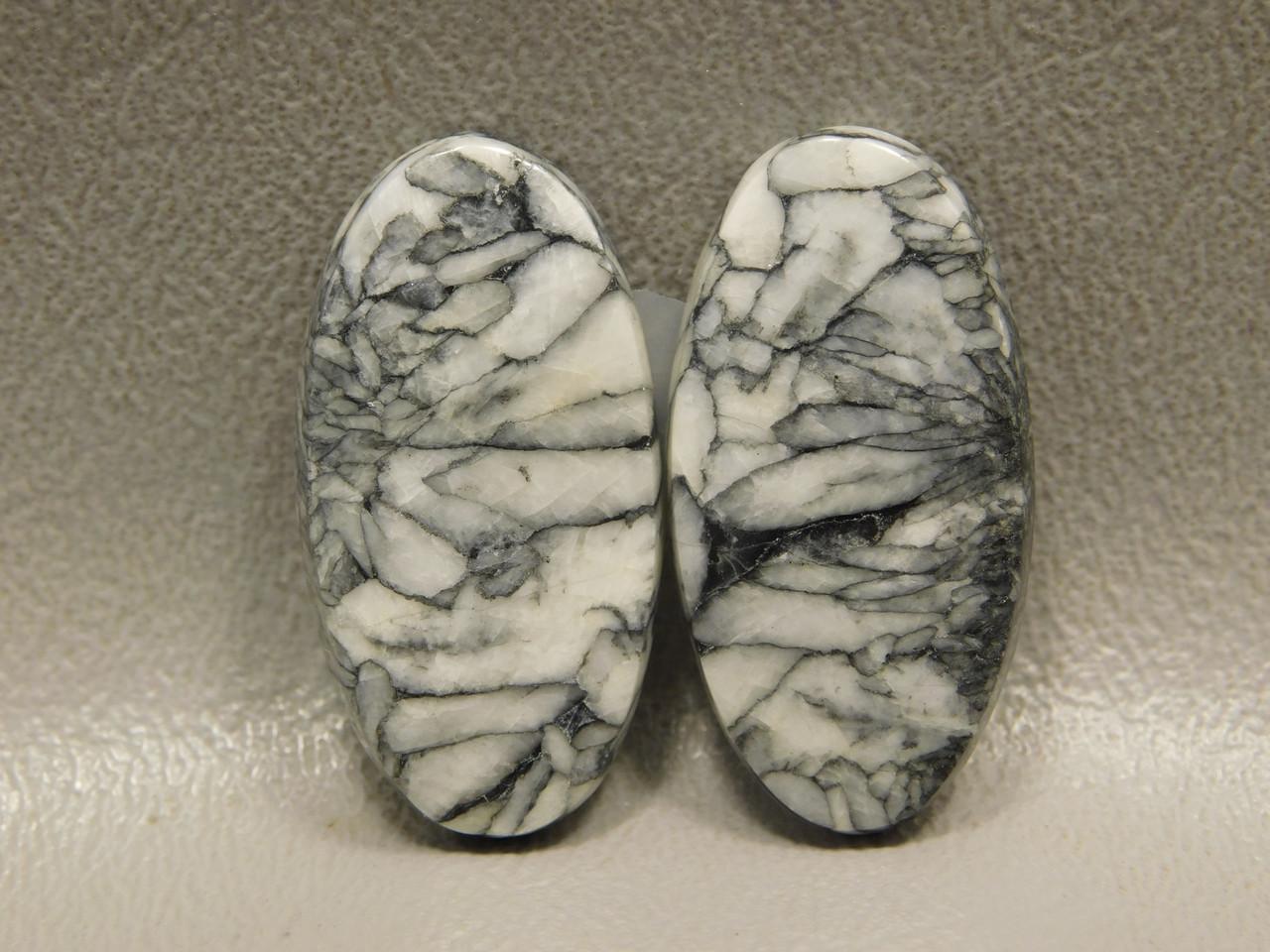 Pinolith or Pinolite Matched Pair Jewelry Making Stone Cabochons #12