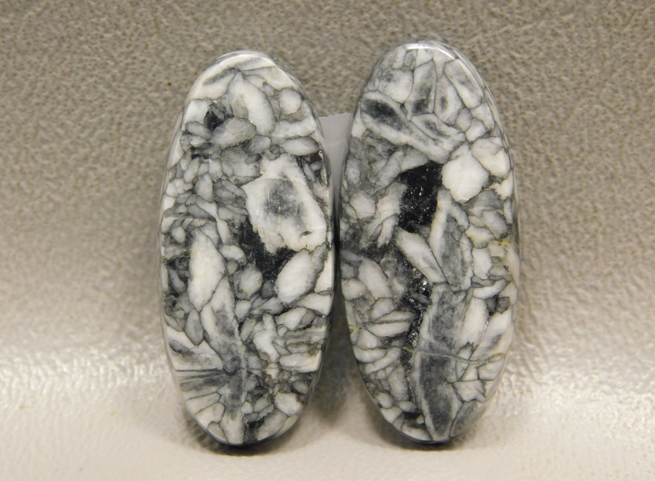Pinolith or Pinolite Gemstone Matched Pair Stone Cabochons #17