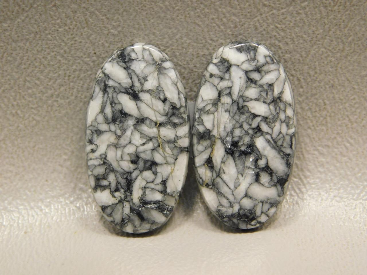 Pinolith or Pinolite Semi Precious Stone Matched Pair Cabochons #19